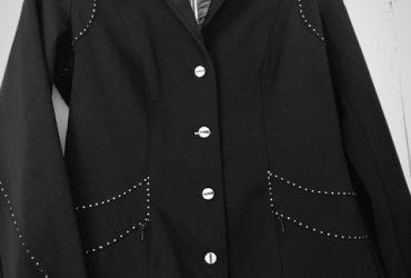 Black Animo jacket and shirt, size AU16